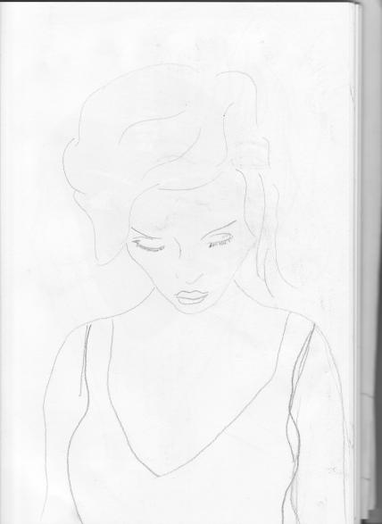 Pencil sketch to use in painting